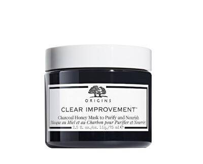 Pleťová maska s černým bambusovým uhlím a medem Clear Improvement™ Charcoal (Honey Mask) 75 ml