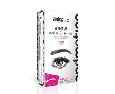 Andmetics Depilační voskové pásky na obočí pro ženy (Brow Wax Strips For Women)