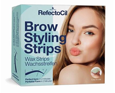Depilační proužky na obočí (Brow Styling Stripes) 20 párů