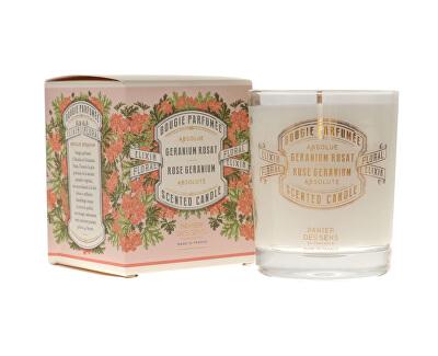 Panier des Sens Dekorativní vonná svíčka ve skle Růže a muškát (Scented Candle) 180 g