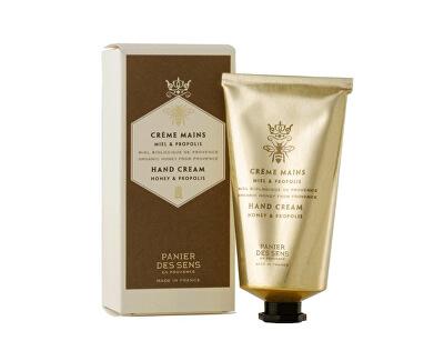 Panier des Sens Hustý a výživný krém na ruce s propolisovým extraktem (Hand Cream Honey & Propolis) 75 ml