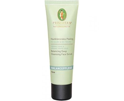 Primavera Vyrovnávající čisticí peeling se šalvějí a hroznovými jadýrky (Balancing Deep Cleansing Face Scrub) 50 ml