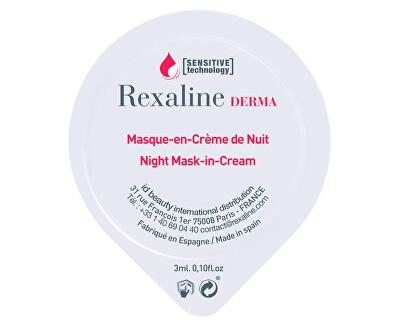 Noční krémová maska pro citlivou pleť Derma Night Mask-in-Cream 6 x 3 ml