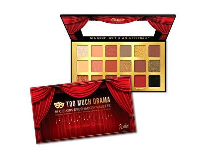 Paletka 18 očních stínů Too Much Drama (18 Eyeshadow Palette) 18 g