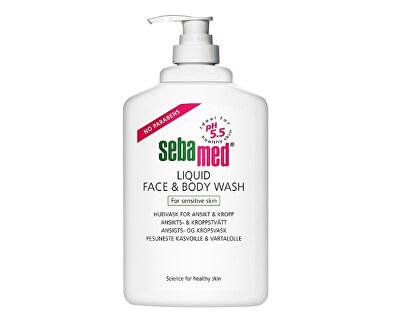 Sebamed Jemná mycí emulze na obličej a tělo s pumpičkou Classic (Liquid Face & Body Wash) 400 ml