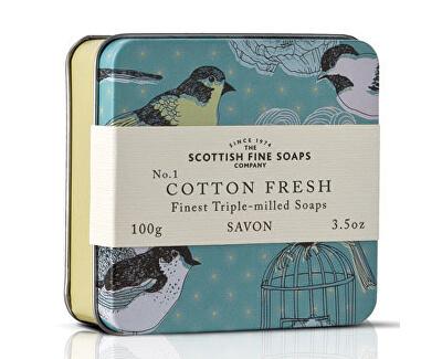 Scottish Fine Soaps Mýdlo v plechu Bavlna 100 g