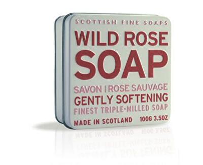 Scottish Fine Soaps Mýdlo v plechu Divoká růže 100 g