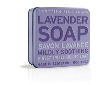 Scottish Fine Soaps Mýdlo v plechu Levandule 100 g