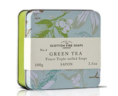 Scottish Fine Soaps Mýdlo v plechu Zelený čaj 100 g