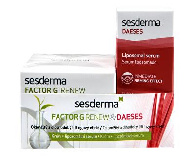 Kozmetikai készlet a bőr azonnali és hosszú távú emelésére Factor G Renew & Daeses - KEDVEZMÉNY - sérült doboz