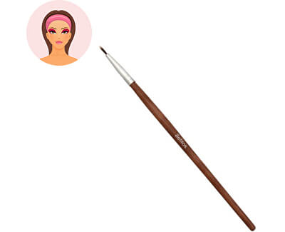 Sefiros Štětec na oční linky s rukojetí z červeného dřeva Red Wood (Eyeliner Brush)
