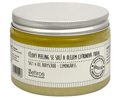 Sefiros Tělový peeling se solí a olejem Citronová tráva (Salt & Oil Bodyscrub) 300 ml