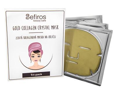 Zlatá kolagenová maska na obličej (Gold Collagen Crystal Mask) 3 ks