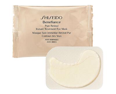 Shiseido Protivrásková maska na oční okolí s okamžitým účinkem Benefiance WrinkleResist24 (Pure Retinol Express Smoothing Eye Mask) 12 párů