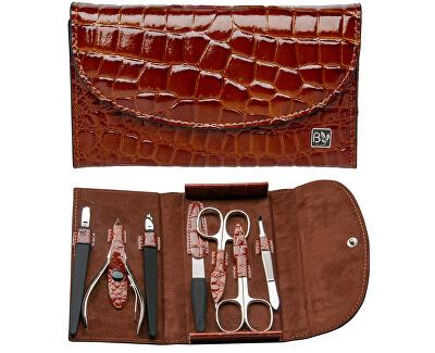 Luxusní kožená 7 dílná manikúra Damerino - SLEVA - poškozená krabička