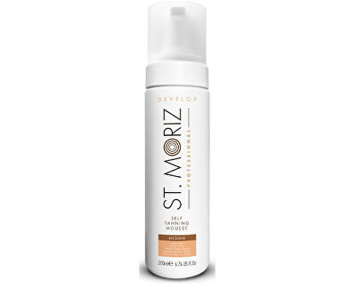Spumă auto-bronzantă pentru bronzare medie Professional(Tanning Mousse Medium) 200 ml
