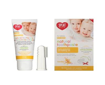 Pasta de dinți pentru copii VanilieBaby + periuță de dinți pe deget 40 ml