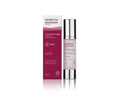 Sesderma Antioxidačné pleťový krém pre obnovu povrchu pleti Resveraderm ( Concentrate d Anti-Aging) 50 ml