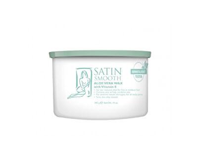 Satin Smooth Uklidňující depilační vosk s Aloe Vera a vitamínem E (Aloe Vera Wax) 400 ml