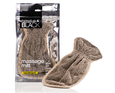 Suavipiel Pánská masážní rukavice (Black Massage Mitt)