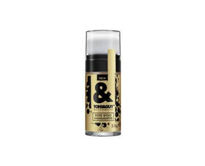Zlaté třpytky do vlasů (Rose Gold Highlighter) 3,5 g