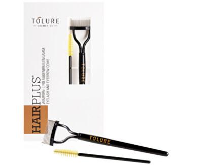 Pieptene cu perie pentru gene Eyelash & Eyebrow Comb Set