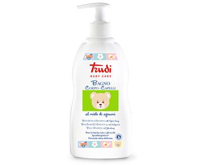 Dětské koupelové mléko a šampon s medem z citrusů 500 ml