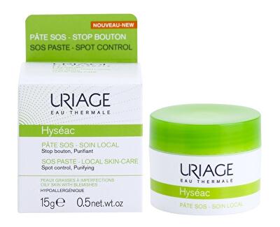 Lokální péče na noc proti nedokonalostem aknózní pleti Hyséac (SOS Paste Local Skin-Care) 15 ml