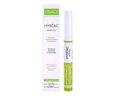 Uriage Tyčinka na kožní nedokonalosti Hyséac Bi-Stick (Anti-Blemish Stick) 3 ml/1g