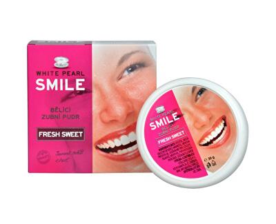 Bělicí zubní pudr SMILE Fresh Sweet 30 g - SLEVA - poškozená krabička