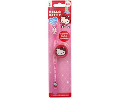 Zubní kartáček s krytkou Hello Kitty