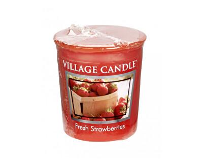 Village Candle Aromatická votívny sviečka Čerstvé jahody (Fresh Strawberries) 57 g
