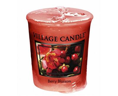 Village Candle Aromatická votívny sviečka Červené kvety (Berry Blossom) 57 g