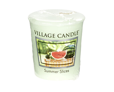 Village Candle Aromatická votívny sviečka Melón s uhorkou (Summer Slices) 57 g
