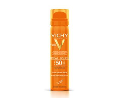 Vichy Osvěžující opalovací sprej na obličej SPF 50 Idéal Soleil 75 ml