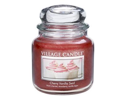 Village Candle Vonná svíčka ve skle Višeň a vanilka (Cherry Vanilla Swirl) 397 g