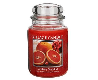 Village Candle Vonná svíčka ve skle Brusinky a grapefruit (Cranberry Grapefruit) 645 g