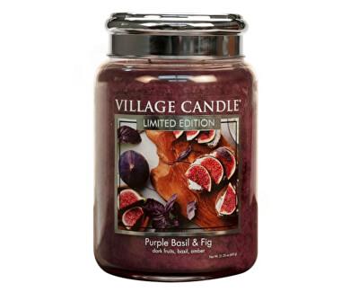 Vonná svíčka ve skle Fialová bazalka a fík (Purple Basil & Fig) 602 g