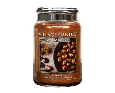 Vonná svíčka ve skle Pečené kaštany (Chestnut Spice) 602 g