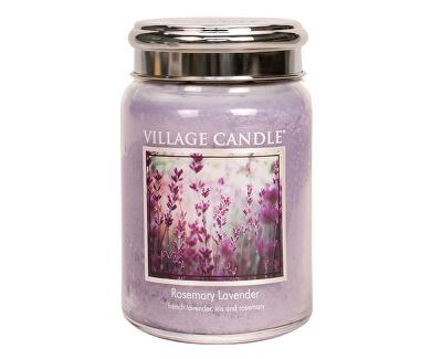 Village Candle Vonná sviečka v skle Rozmarín a levandule (Rosemary Lavender) 645 g