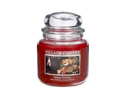 Vonná svíčka ve skle Šťastné Vánoce (Happy Holidays) 397 g