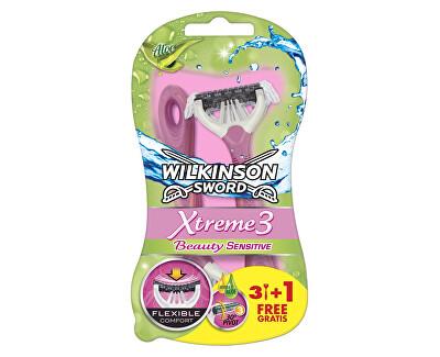 Egyhasználatú borotva nőknek Wilkinson Xtreme3 Beauty Bulldog Sensitive 4 db