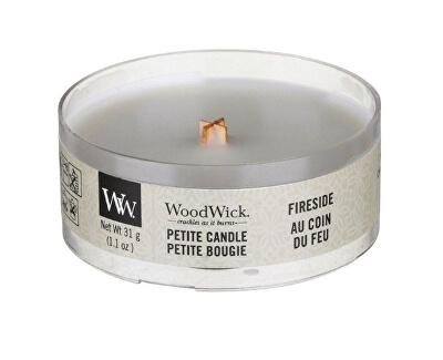 Aromatická malá svíčka s dřevěným knotem Fireside 31 g