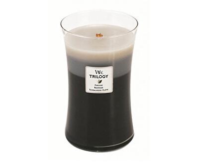 Vonná svíčka Trilogy Fireside, Redwood, Sandalwood Clove 609 g - SLEVA - chybí etiketa, poškozené víčko