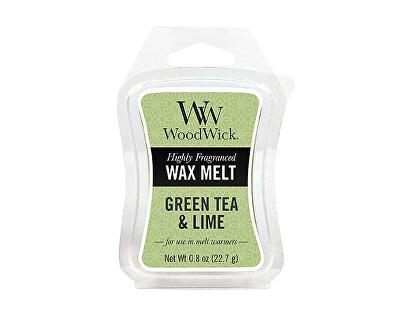 WoodWick Vonný vosk Green Tea & Lime 22,7 g
