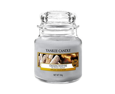 Yankee Candle Aromatická sviečka Classic malý Crackling Wood Fire 104 g