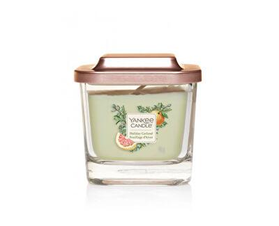 Aromatická svíčka malá hranatá Holiday Garland 96 g