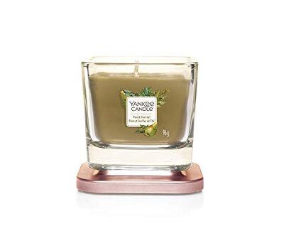 Aromatická svíčka malá hranatá Pear & Tea Leaf 96 g