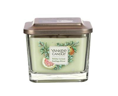 Aromatická svíčka střední hranatá Holiday Garland 347 g