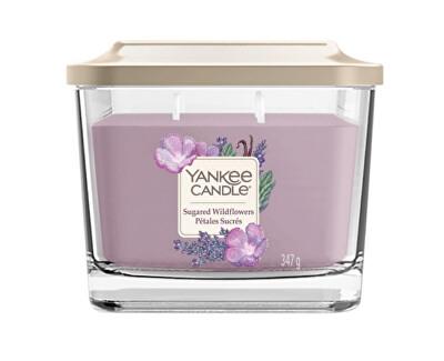 Aromatická svíčka střední hranatá Sugared Wildflowers 347 g - SLEVA - bez víčka